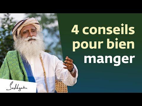 4 conseils pour bien manger | Sadhguru Français 4 conseils pour bien manger | Sadhguru Français