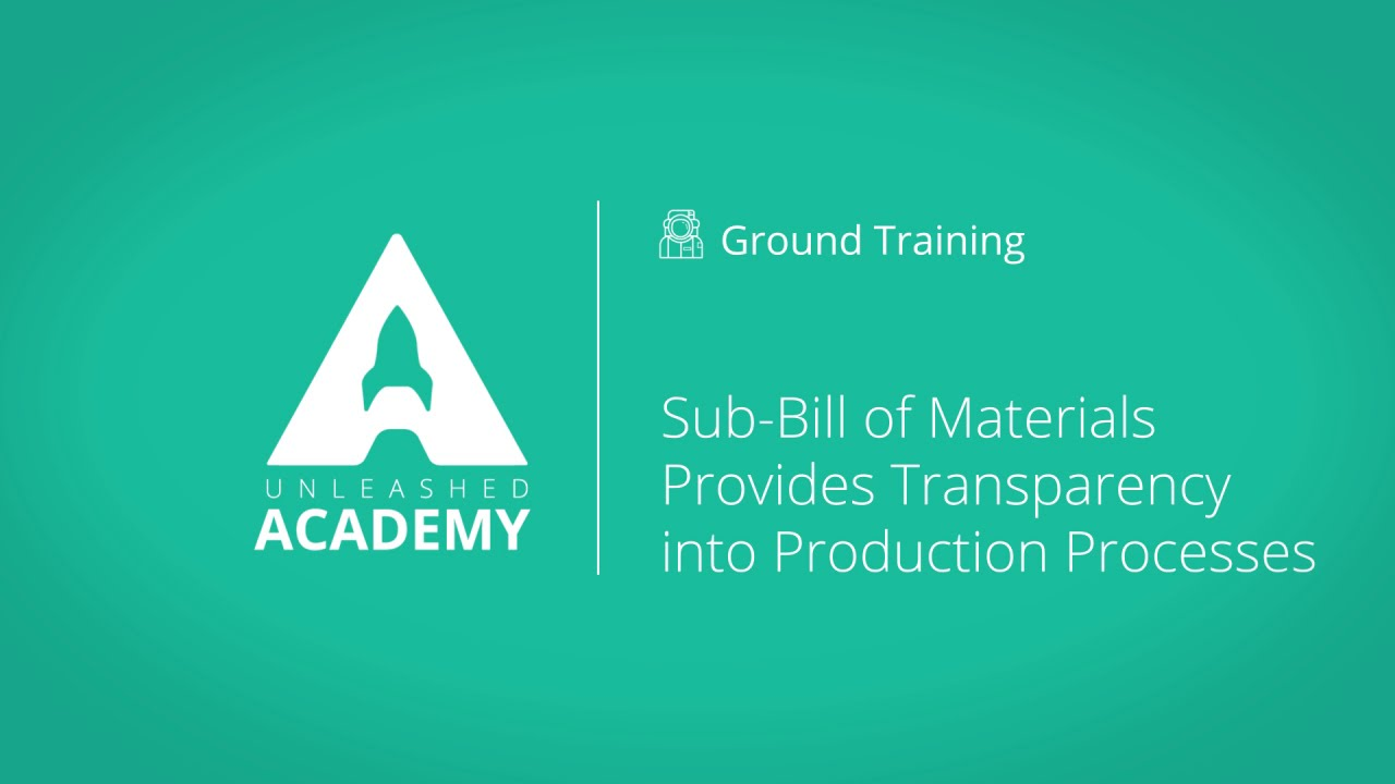 Sub-Bill of Materials Provides Transparency into Production Processes YouTube thumbnail image