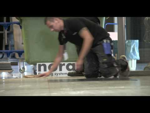 nora systems: norament nTx - Installation on mineral subfloors