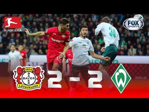 DEU EMPATE ENTRE NA BUNDESLIGA! Veja os melhores momentos de Leverkusen 2 x 2 Werder Bremen