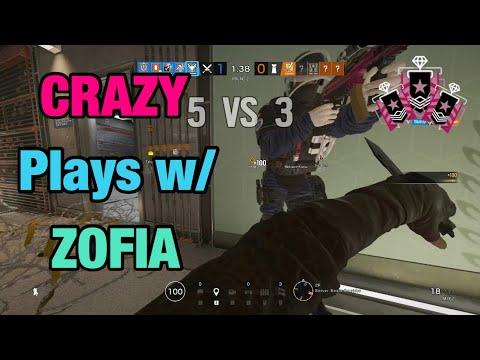 CRAZY Plays w/ Zofia - Rainbow Six Siege