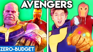 AVENGERS WITH ZERO BUDGET! (Thanos vs. Iron Man PARODY)