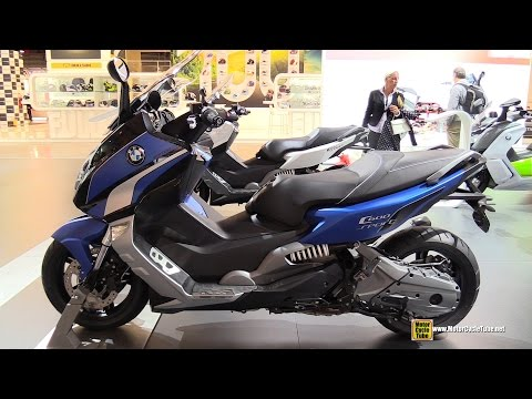 2015 BMW C600 Sport Scooter - Walkaround - 2014 EICMA Milan Motorcycle Exhibition