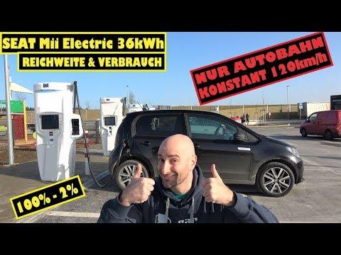 #Reichweitentest: SEAT Mii Electric 36kWh - Bei DAUERHAFT 120km/h!