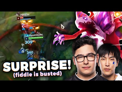 DAY 59 - CRUSHING THE LEGENDARY TSM DUO BROKENBLADE & DOUBLELIFT!! FIDDLESTICKS IS NUTS