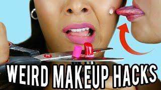 10 Weird Makeup HACKS You've NEVER Seen Before! NataliesOutlet