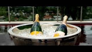 Champagne at swiming pool @HotelUnique by Orfèvrerie Royale