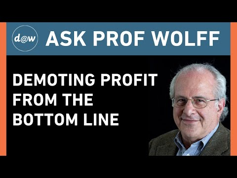 Ask Prof Wolff:  Demoting Profit from the Bottom Line