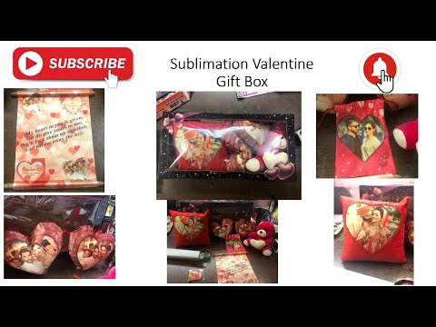 Sublimation Valentine Gift Box Pack