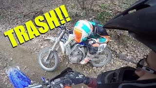Yamaha SUCKS!!! - yz450f BLOWS UP!