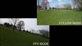 Dji Mavic Air 2 Gimbal modes. Follow mode vs FPV mode. Side by side flight test.