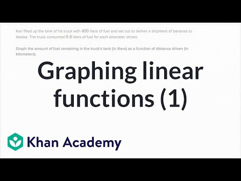 Linear functions word problem fuel (video) Khan Academy