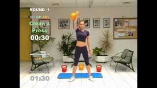 KETTLEBELL 20-Minute-CARDIO WORKOUT - FAT LOSS by FITNESS ACADEMY