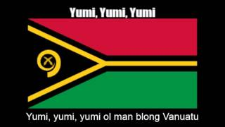 National Anthem of Vanuatu (Yumi, Yumi, Yumi) - Nightcore Style With Lyrics