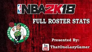 "NBA 2K18 ""Boston Celtics"" Full Roster stats"