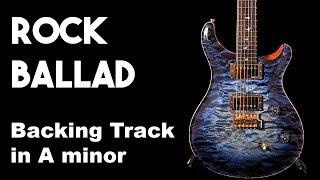 Rock Ballad Backing Track in Am #SZBT 25