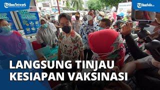 Tak Sampai Satu Jam Dilantik, Gibran Langsung Tinjau Kesiapan Vaksinasi Pedagang Pasar Gede