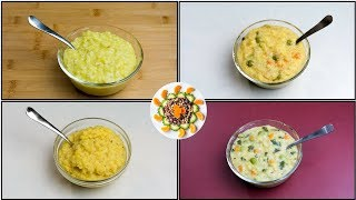 4 Dinner Ideas For Kids (10+ Month Old To 2Year Toddlers) | 4 Khichdi Recipes For Toddlers/Kids