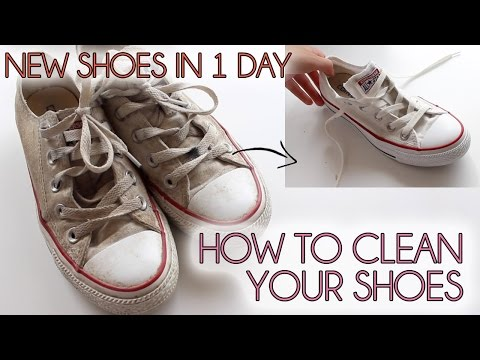 How to clean your shoes EASY    Converse, vans, canvas shoes