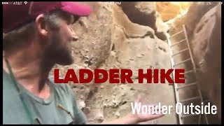 Ladder Hike in Painted Canyon, Mecca Wilderness