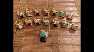 Beautiful Egyptian Jewellery Rings Semi Precious Stones Multi Color And Mala Sets With PRICE
