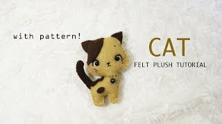 Cat Felt Plush Tutorial