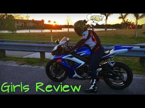 Girl's Ride & Review GSXR750 Sport Bike