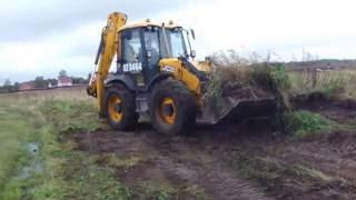 Планировка участка трактором 🚜 JCB - срезка бугров 🔪
