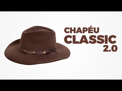 Chapéu Classic 2.0 Café Com Carteira E Cinto