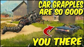 GRAPPLING IN TO CARS IS SO MUCH FUN! COD BLACKOUT SOLO WIN!