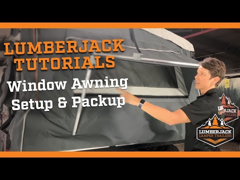 Camper Trailer Window Awning Setup