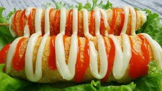 Cách làm BÁNH HOT DOG PHÔ MAI kiểu Hàn Quốc - Món Ăn Ngon