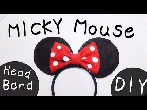 DIY Micky Mouse Headband