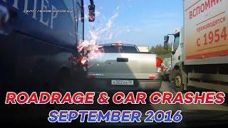 ROAD RAGE & CAR CRASHES COMPILATION SEPTEMBER 2016 (part 2)