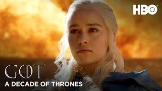 A Decade of Game of Thrones | Emilia Clarke on Daenerys Targaryen(HBO)
