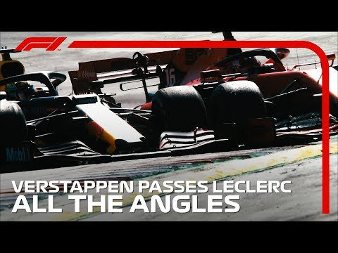 Verstappen's Pass On Leclerc, All The Angles | 2019 Austrian Grand Prix