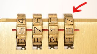 How to Crack a Combination Lock in Seconds With No Tools!