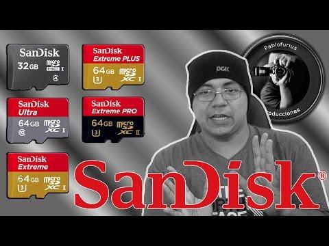 SanDisk: Que memoria comprar ? Guia en español @Pablofurius