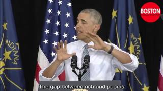 Obama english speech with subtitle