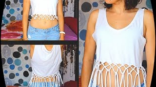 DIY Camiseta Con Flecos
