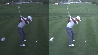 GOLF SWING 2013 - TIGER WOODS - LOW LIGHT ELEVATED DOWN THE LINE & SLOW MOTION - 1080p HD
