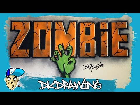 At This Video I Show You How To Draw Simple Graffiti Letters Zombie
