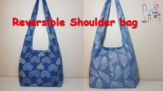 DIY Reversible Shoulder Bag | Boho Bag | Coudre Un Sac | Bolsa De Bricolaje | 가방| バッグ| мешок
