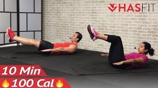 10 Minute Abs Workout for Women & Men at Home - 10 Min Ab Workout with No Equipment by HASfit