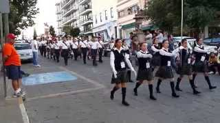 preview picture of video 'Parade of Drum and Bugle Corps, Zacatecas, Mexico,  June 5, 2014'