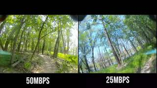 50Mbps vs. 25Mbps - DJI FPV July Firmware Update Comparison
