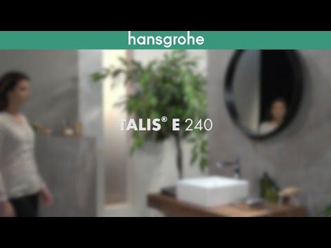 Hansgrohe Talis E 240 robinet de lavabo rehaussé chromé