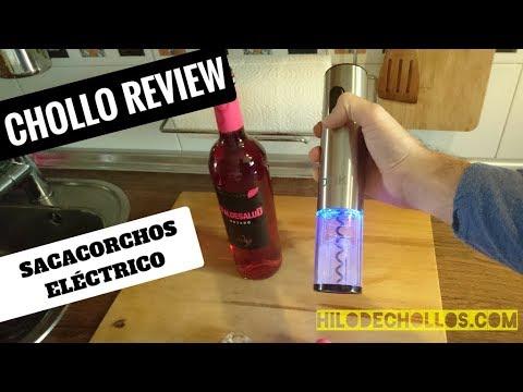 El mejor regalo para los amantes del vino, un sacacorchos eléctrico con luces