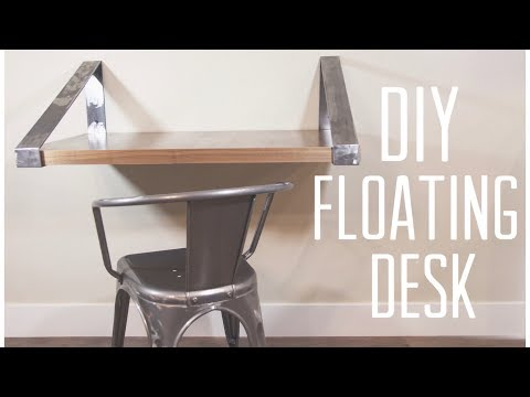 DIY Easy Desk Build | Floating Shelf