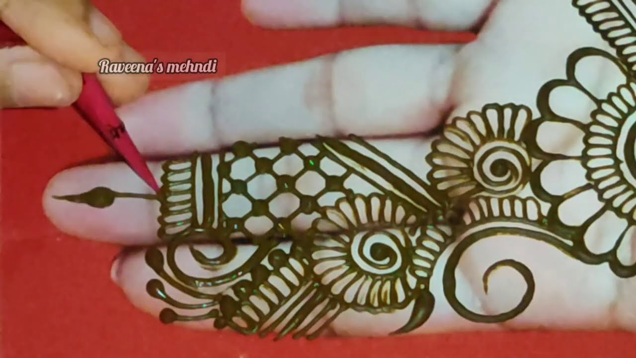 arabic mehndi design for front hand by raveena mehndi